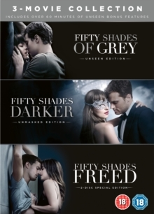 Fifty Shades of Grey / Fifty Shades Darker / Fifty Shades Freed - 3-Movie Collection (Unmasked Edition, 4 DVDs)