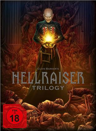 Hellraiser Trilogy (Digipack, Deluxe Edition, Limited Edition, Uncut, 4 Blu-rays + DVD + Book)