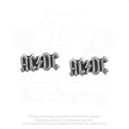 AC/DC Stud Earrings - Logo