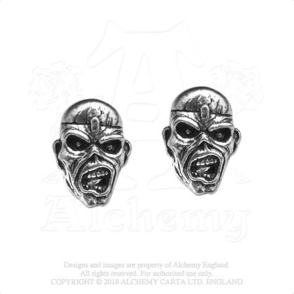 Iron Maiden Stud Earrings - Piece of Mind Eddie