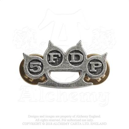 Five Finger Death Punch Pin Badge - Knuckle Duster