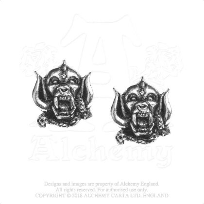 Motorhead Stud Earrings - War Pig