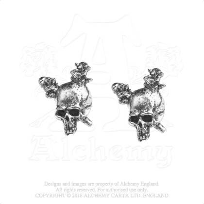 Metallica Stud Earrings - Damage