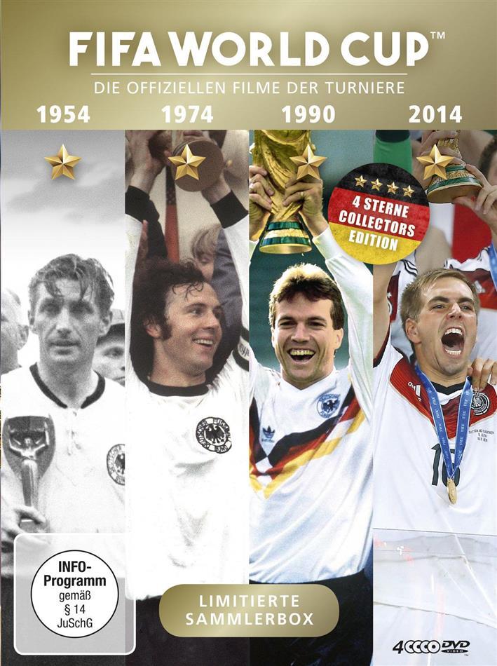 FIFA World Cup - Die offiziellen Filme der Turniere 1954 / 1974 / 1990 / 2014 (Limited Edition, 4 DVDs)