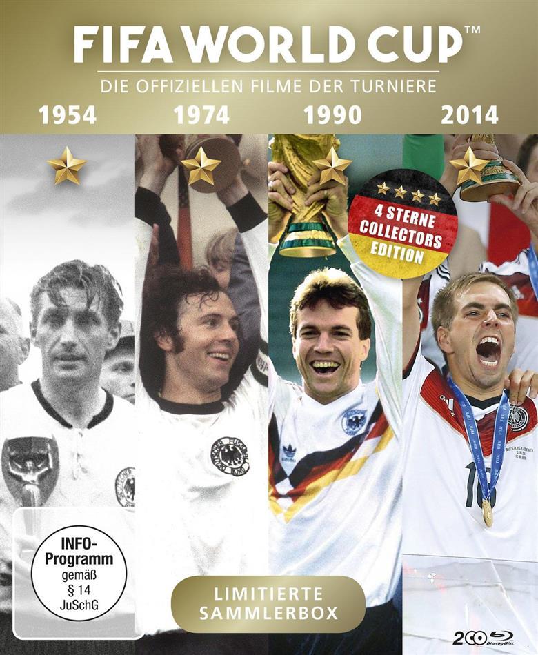 FIFA World Cup - Die offiziellen Filme der Turniere 1954 / 1974 / 1990 / 2014 (Limited Edition, 2 Blu-rays)