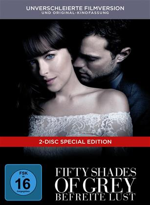 Fifty Shades of Grey 3 - Befreite Lust (2018) (Unverschleierte Filmversion, Original-Kinofassung, Limited Edition, Mediabook, Special Edition, 2 DVDs)
