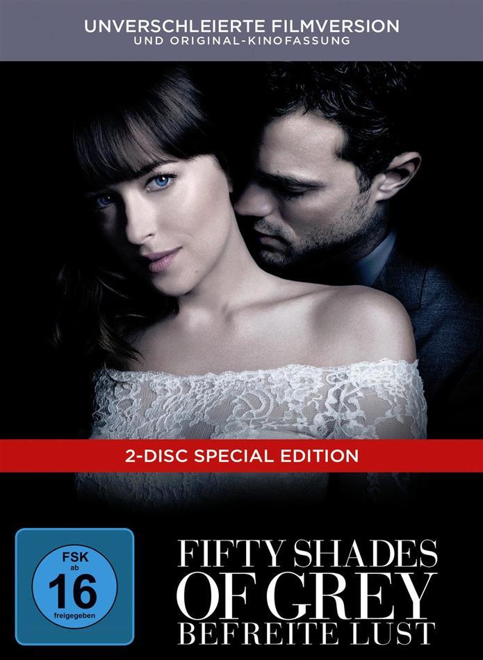 Fifty Shades of Grey 3 - Befreite Lust (2018) (Unverschleierte Filmversion, Original-Kinofassung, Limited Edition, Mediabook, Special Edition, 2 DVDs)