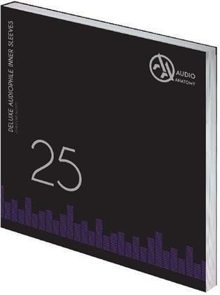 Deluxe Schallplatten Innenhüllen Antistatisch Creme 70 gr - 25 Stück