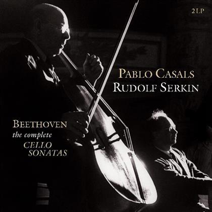 Pablo Casals (1876 - 1973), Rudolf Serkin & Ludwig van Beethoven (1770-1827) - Complete Cello Sonatas (Vinyl Passion, 2 LPs)