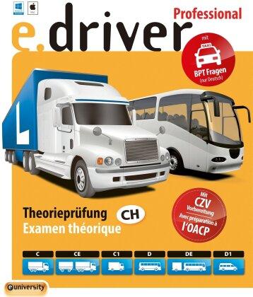e.driver Professional V1.0 - 700 Fragen [Kat. C/CE/C1/D/DE/D1]