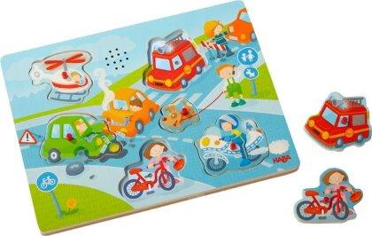 Sound-Greifpuzzle In der Stadt (Kinderpuzzle)