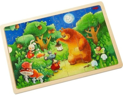 Nachtwächterbär - 24 Teile Holzpuzzle