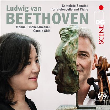 Manuel Fischer-Dieskau, Connie Shih & Ludwig van Beethoven (1770-1827) - Complete Sonatas For Violin & Piano - Sämtliche Violinsonaten (2 SACDs)