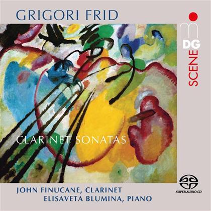 Grigori Frid (1915-2012), John Finucane & Elisaveta Blumina - Clarinet Sonatas / Klarinettensonaten Nr.1-3 (SACD)