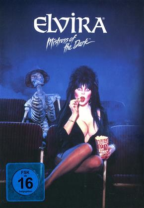 Elvira - Mistress of the Dark (1988) (Cover Black, Limited Edition, Mediabook, Remastered, Uncut, Blu-ray + DVD)