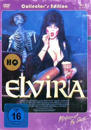 Elvira - Mistress of the Dark (1988) (Cover Retro, Collector's Edition, Edizione Limitata, Mediabook, Versione Rimasterizzata, Uncut, Blu-ray + DVD)