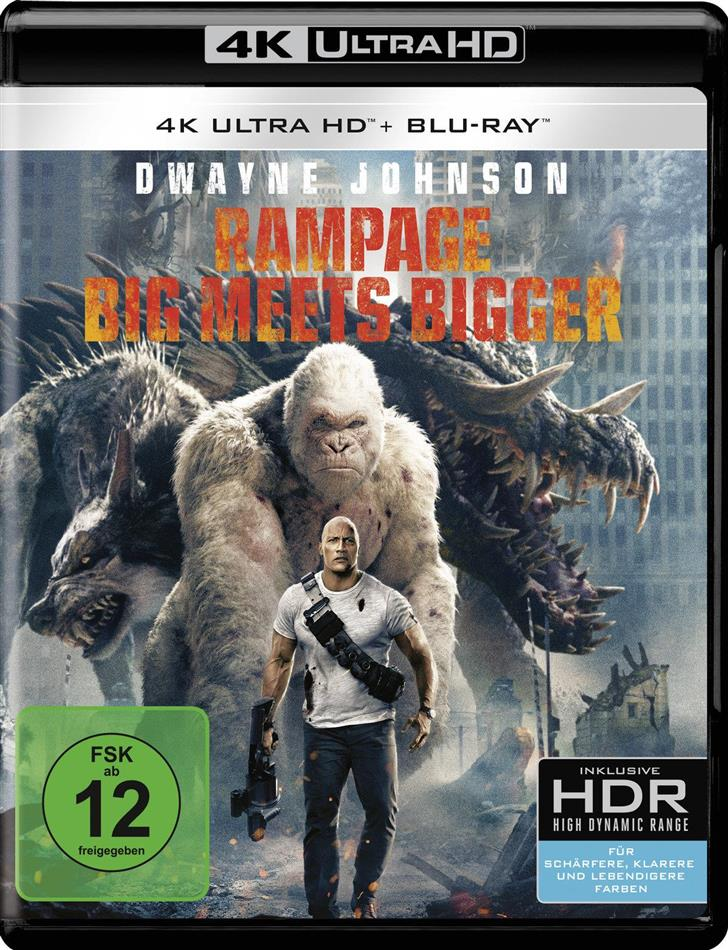 Rampage - Big Meets Bigger (2018) (4K Ultra HD + Blu-ray)