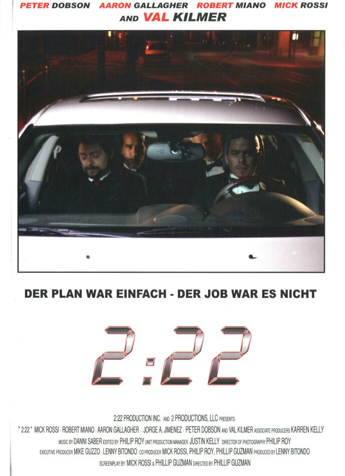 2:22 (2008) (Cover C, Limited Edition, Mediabook, Uncut, Blu-ray 3D (+2D) + DVD)