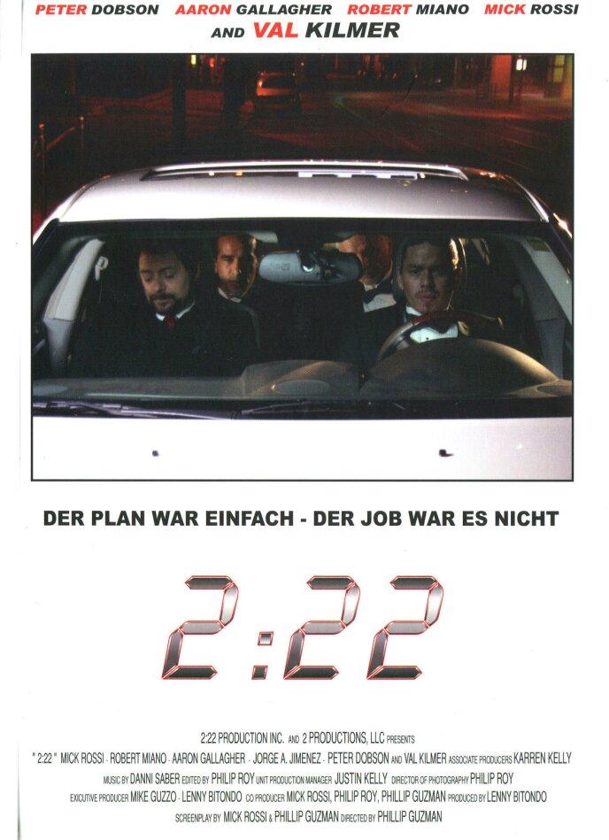 2:22 (2008) (Cover C, Edizione Limitata, Mediabook, Uncut, Blu-ray 3D (+2D) + DVD)