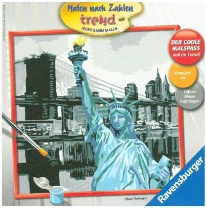 New York - Acrylmaltafel, Acrylfarben, Pinsel, Rahmen