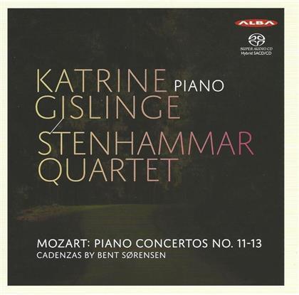 Wolfgang Amadeus Mozart (1756-1791), Katrine Gislinge & Stenhammar Quartet - Piano Concertos No. 11-13 (KV413-KV415) (SACD)