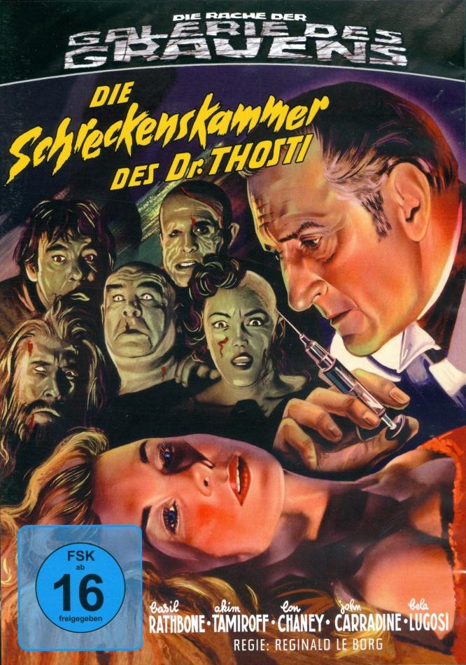 Die Schreckenskammer des Dr. Thosti (1956) (Die Rache der Galerie des Grauens, s/w, Limited Edition, Blu-ray + DVD)