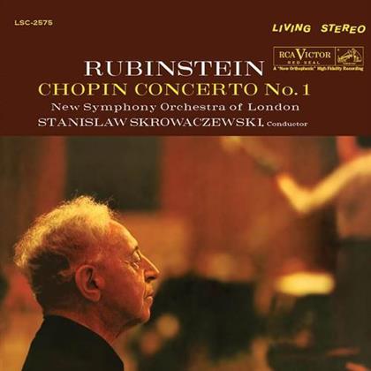 Stanislaw Skrowaczewski, Frédéric Chopin (1810-1849), Artur Rubinstein & New Symphony Orchestra of London - Concerto No. 1 (LP)