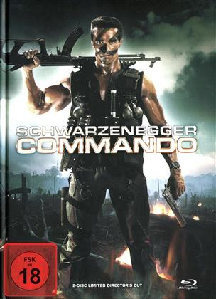 Commando (1985) (Cover B, Director's Cut, Edizione Limitata, Mediabook, Uncut, Blu-ray + DVD)