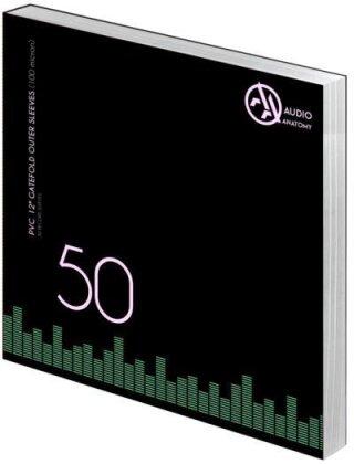 Deluxe Schallplatten Innenhüllen Antistatisch Schwarz 80 gr - 50 Stück