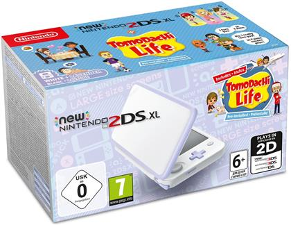 New Nintendo 2DS XL white/lavender incl. Tomodachi Life