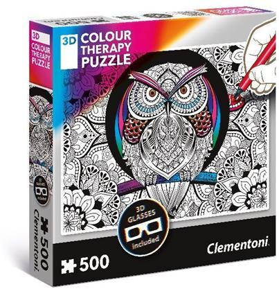 Eule - 3D Colour Therapy 500 Piece Puzzle