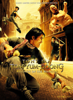 Tom-Yum-Goong - Revenge of the Warrior (2005) (Cover C, Collector's Edition, Limited Edition, Mediabook, Uncut, Blu-ray + 2 DVDs)