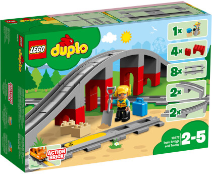 LEGO© 10872 DUPLO© - Eisenbahnbrücke und Schienen
