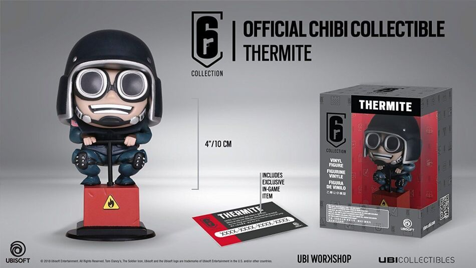 Rainbow Six Siege Collection - Thermite Figur inkl. Ingame Code