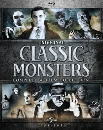 Universal Classic Monsters - Complete 30-Film Collection 1931-1956 (n/b, 24 Blu-ray)