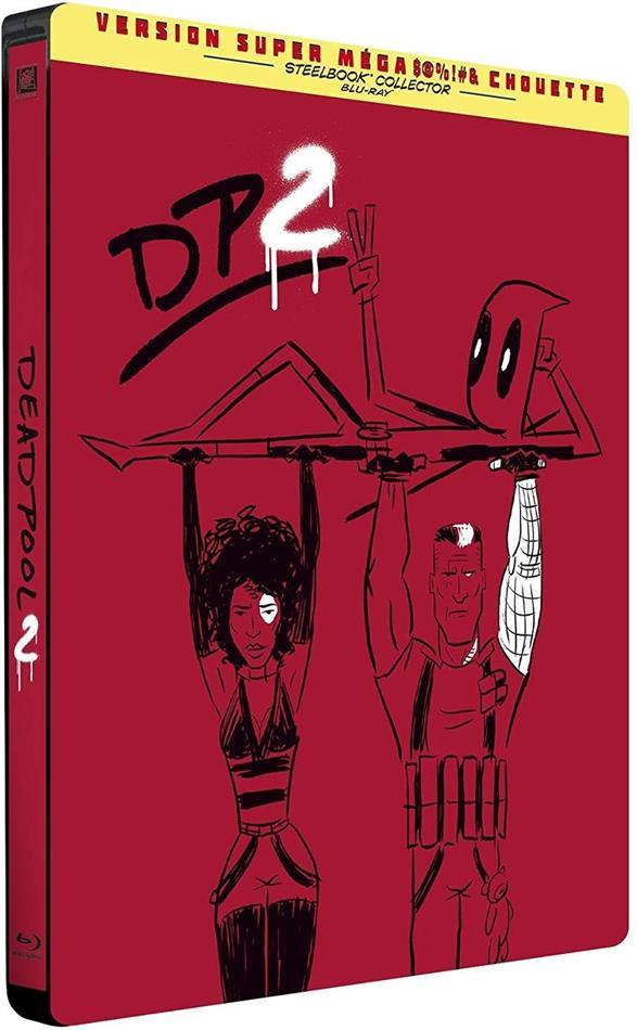 Deadpool 2 (2018) (Extended Cut, Kinoversion, Limited Edition, Steelbook, 2 Blu-rays)
