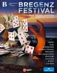 Wiener Symphoniker, … - Bregenz Festival - Opera On The Lake Stage - Aida / Andrea Chenier / Die Zauberflote / Turandot / Carmen (5 Blu-rays)