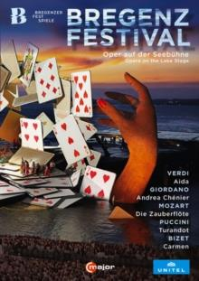 Wiener Symphoniker, … - Bregenz Festival - Opera On The Lake Stage - Aida / Andrea Chenier / Die Zauberflote / Turandot / Carmen (C Major, Unitel Classica, 5 DVDs)