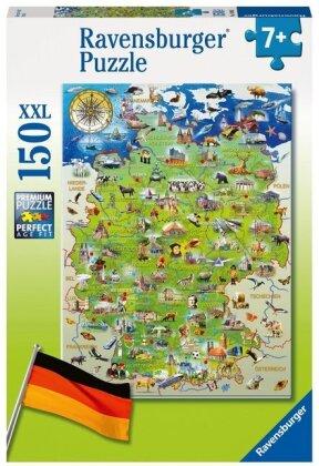 Meine Deutschlandkarte - Puzzle 150 Teile XXL
