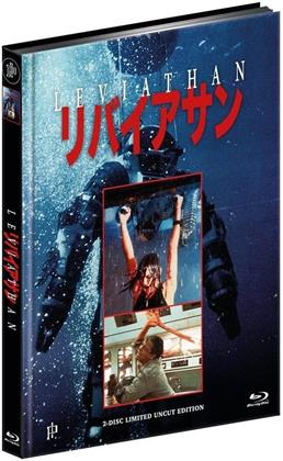 Leviathan (1989) (Cover A, Limited Edition, Mediabook, Uncut, Blu-ray + DVD)