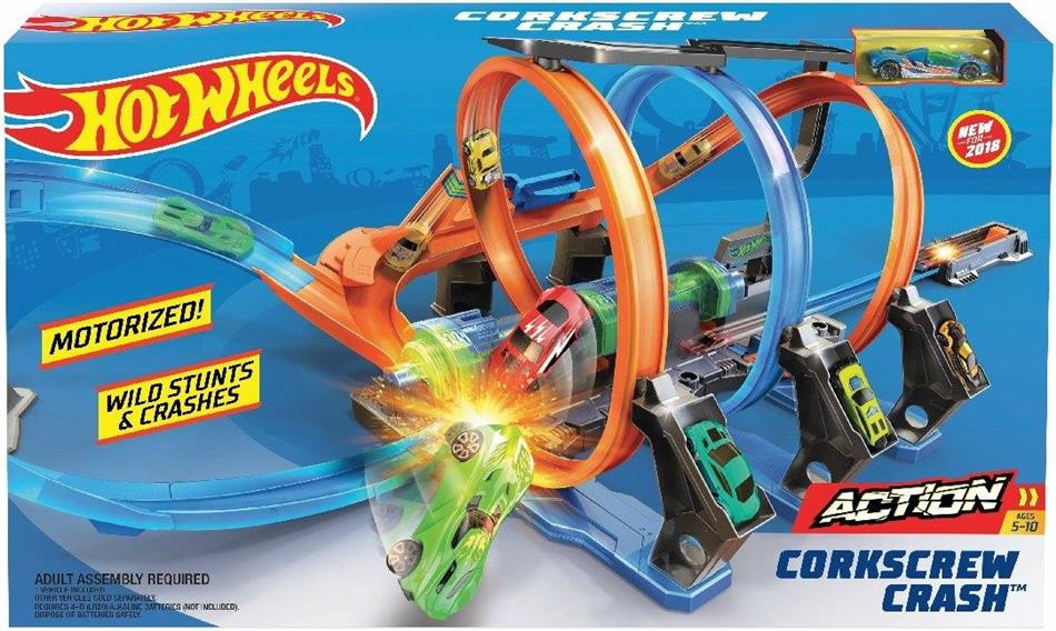 Hot Wheels - Action: Korkenzieher-Crash Trackset