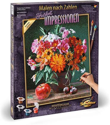 Herbstimpressionen - Spezialkarton mit Leinenstruktur, Bildgröße: 50 x 40 cm, Acrylfarben, Pinsel. Ohne Rahmen!