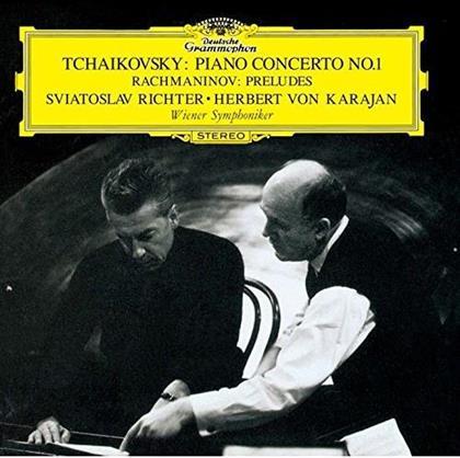 Peter Iljitsch Tschaikowsky (1840-1893), Sergej Rachmaninoff (1873-1943), Herbert von Karajan, Sviatoslav Richter & Wiener Symphoniker - Piano Concerto No. 1 / Preludes - Klavierkonzert Nr. 1 / Preludes (Japan Edition, Limited Edition)
