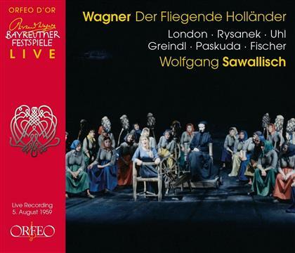 Richard Wagner (1813-1883), Wolfgang Sawallisch & Orchester der Bayreuther Festspiele - Der Fliegende Holländer - Live Aufnahme Von 1959 (2 CDs)