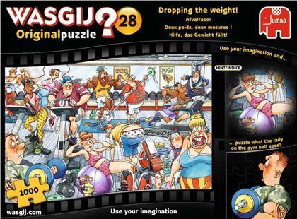 Wasgij Originalpuzzle 28: Hilfe, das Gewicht fällt! - 1000 Teile