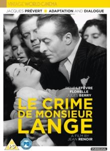 Le Crime De Monsieur Lange (1936) (Vintage World Cinema, s/w)