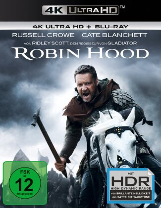 Robin Hood (2010) (Director's Cut, Versione Cinema, 4K Ultra HD + Blu-ray)