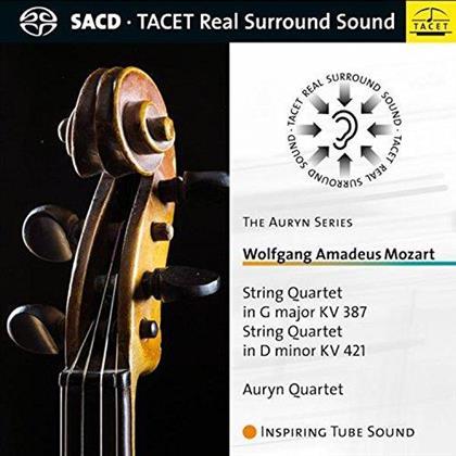 Auryn Quartet & Wolfgang Amadeus Mozart (1756-1791) - String Quartets KV387, KV421 (Tacet Real Surround Sound, SACD)