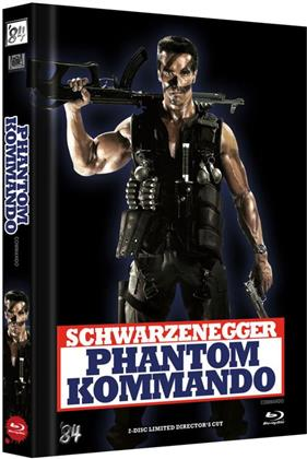 Phantom Kommando (1985) (Cover E, Director's Cut, Limited Edition, Mediabook, Uncut, Blu-ray + DVD)