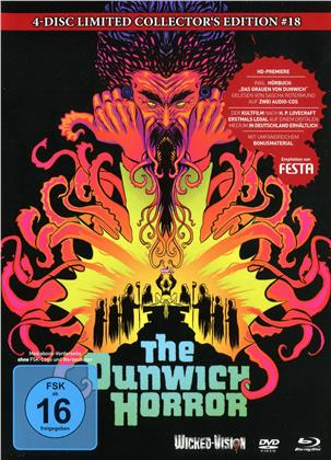 The Dunwich Horror (1970) (Cover C, Collector's Edition, Limited Edition, Mediabook, Uncut, Blu-ray + DVD + 2 CDs)
